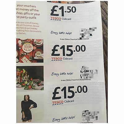 Tesco Vouchers £50.50 Worth And Can Be X4 The Amount