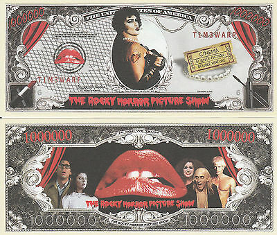 Rocky Horror Picture Show Million Dollar Collectible Funny Money Novelty Note