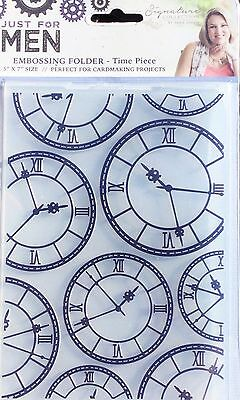 Just For Men - Time Piece Embossing Folder - S-MEN-EF5-TIME