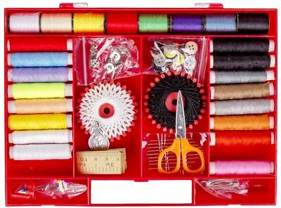 Sewing Accessories Supplies Kit Set In Case Organiser 24Pcs Threads & More