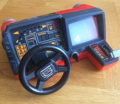 VINTAGE 1983 80s TOMY TURNIN' TURBO DASHBOARD RACING CAR DRIVING GAME RARE