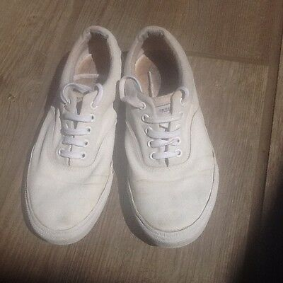 Converse All Star trainers sneakers plimsoles shoes white size 9