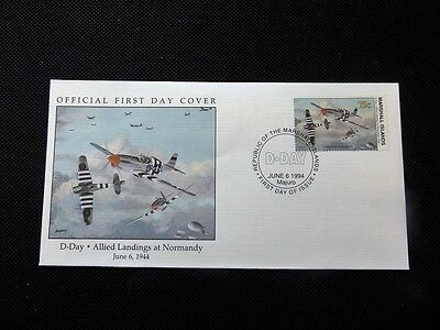 Marshall Island First day cover - 50th Anniversary of Allied Landings