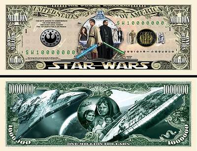 Star Wars Force Awakens Million Dollar Bill Funny Money Novelty Note FREE SLEEVE