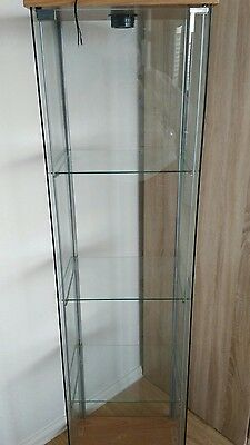 ikea vitrine detolf glas glasvitrine schrank eur 1 50 picclick de. Black Bedroom Furniture Sets. Home Design Ideas