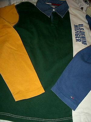 Tommy Hilfiger Denim Polo Hemd Gr. M Sticklogo am li.Ärmel