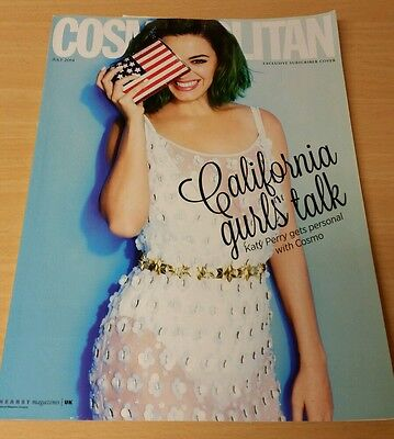Cosmopolitan UK Magazine Katy Perry Exclusive Subscriber Cover July 2014