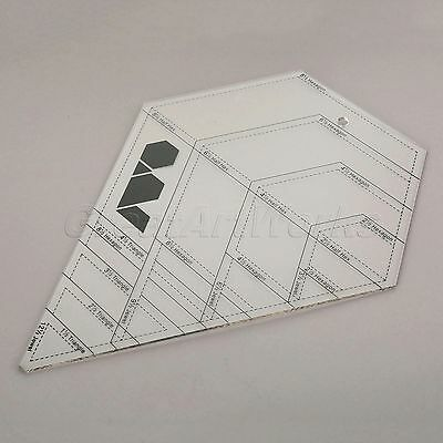 Black Scale Transparent Sewing Quilting Patchwork Ruler Easy Grid Tool 31.8x25cm
