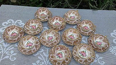 Paragon By Appointment floral pattern pink ground A565/4F small cups & saucers