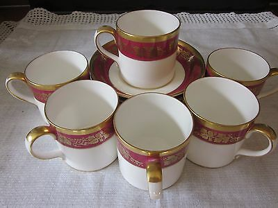 Fine Bone Crown Staffordshire China  - Cup And Saucer X 6