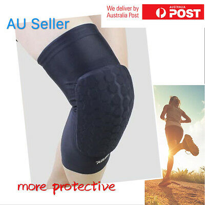 GYM Sports Elastic Honeycomb Sponge Pads Brace Shockproof Knee Protector Support