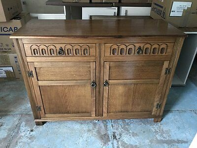 Antique Vintage Retro Sideboard With Drawers and Cupboard
