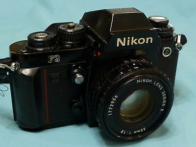 Nikon F3 camera with 50mm Lens, case and instructions