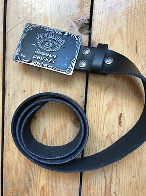 Jack Daniels Belt Buckle With Black Belt