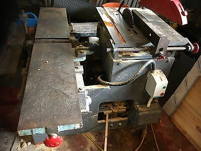British Made 'Zytos' vintage table saw and thickness planer