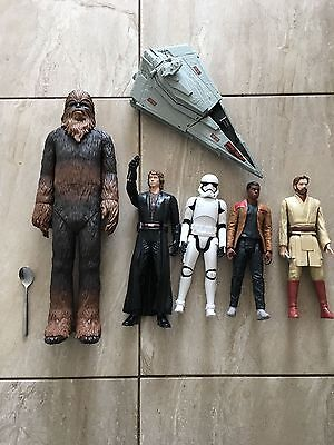 large figures star wars bundle x 5 figures and space ship
