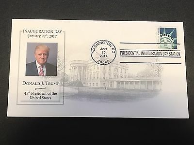 Trump 2017 Official Inauguration 1/20/17, with Free Reagan Inaugural cover