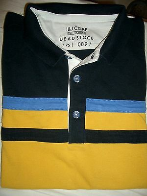 Jack & Jones CORE Polo Hemd Gr.L gestreift Logoknöpfe