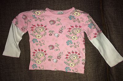 Pink/White Cherokee Long Sleeve Floral Top | Baby Girls (18-24 Months)
