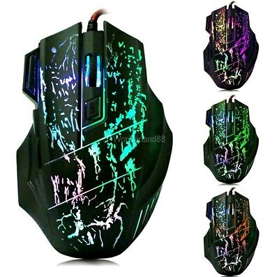 5500DPI LED USB Gaming Game Optical Mouse Mice for Gamer Laptop PC