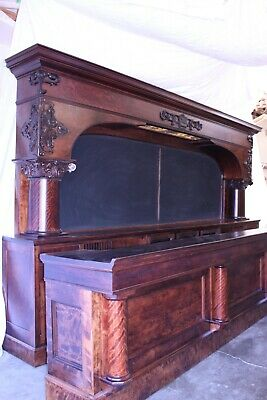 Antique - Early 1900's  Brunswick 20' Birch Empire Bar with Front Bar - Saloon