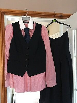 Ladies Equestrian In Hand Show Outfit And Blk Cane Size 14