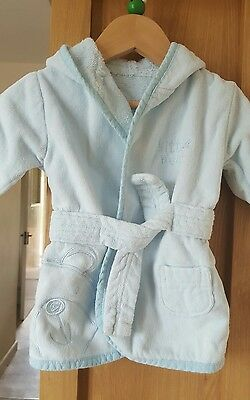 baby boys dressing gown 0-6 months