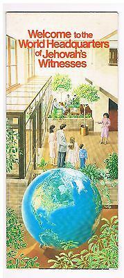 Watch Tower - brochure Welcome to World Headquarters of Jehovah's Witnesses