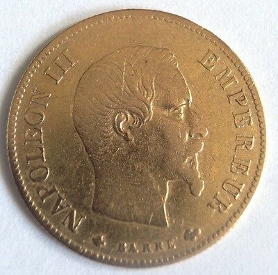 FRANCE- 1860 - Solid Gold French 10 Francs - Paris - KM:784.3 - EF
