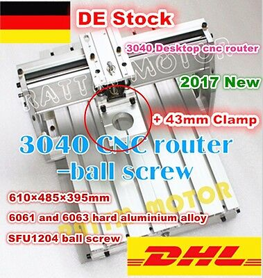 3040 Desktop Ball Screw Frame CNC Router Engraving Milling Machine+43mm Clamp DE