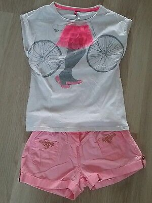 ensemble short et tee shirt orchestra fille 8 ans
