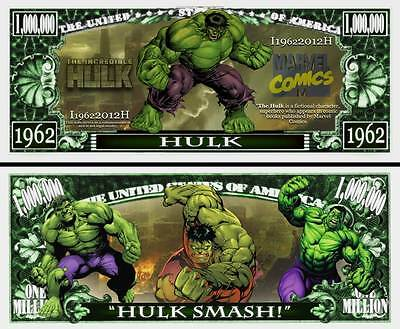 The Incredible Hulk Million Dollar Bill Collectible Funny Money Novelty Note