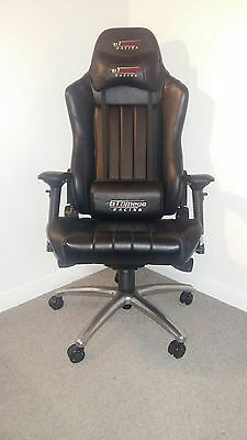 Gt Omega Evo Xl Racing Office Chair (Black Leather)