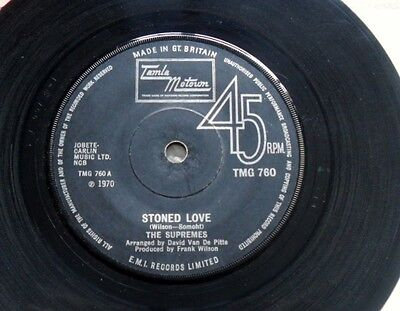 SUPREMES: STONED LOVE  45rpm  TMG 760 1970