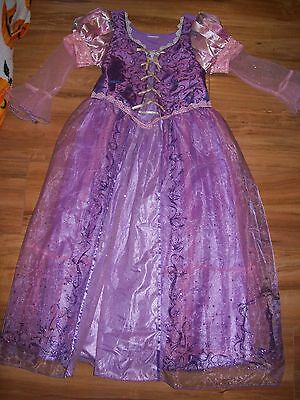 Disney Store Tangled Rapunzel Original Costume Glitter Pictures Dress Up M