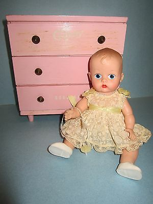 Vintage Vogue Ginnette Doll Rare Outfit & Chest of Drawers