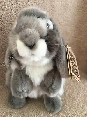Living Nature Soft Toy Grey And White Bunny Rabbit New With Tag