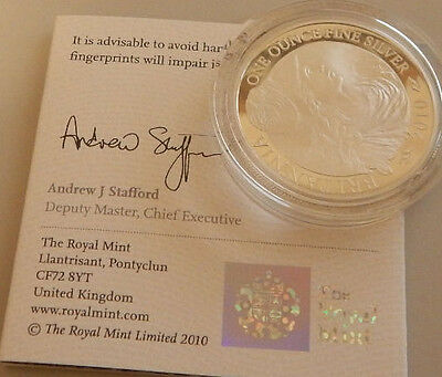 Britannia 2010 1oz Silver Proof Coin (With COA) (Without Box)