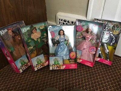 Mattel Wizard Of Oz Barbie & Ken 1999 Collector Edition NIB NRFB 5 Dolls Sealed