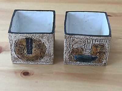 A Pair Of Troika Cube Vases