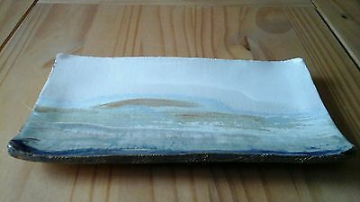 Isle of Skye Pottery Rectangle Display Plate with Landscape Design