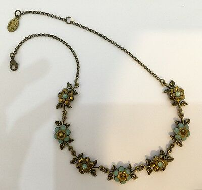 Michal Negrin Vintage Style Necklace Fashion Flower Design Beads Jewelry New