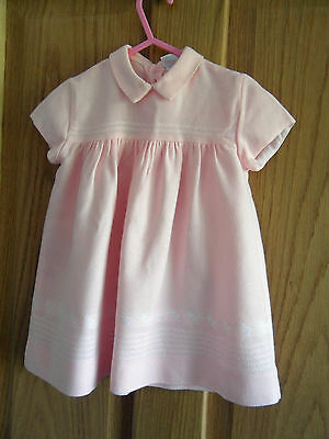 Vintage Pink Baby Girl Dress with Ducklings 6 Mths