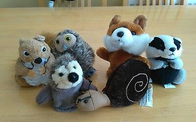 The puppet Company woodland animal finger puppets