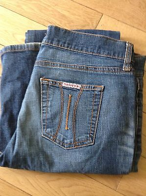 fornarina jeans Mid Blue Lightly Distressed 31 Waist Boot Cut Women's
