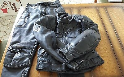 Ladies Frank Thomas Leathers Jacket Size 16,Trousers Size 14