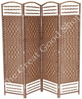1.6m - 2m Rattan Office Space Bedroom Change Folding Privacy Screen Room Divider