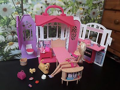 Barbie dolls bundle ( with dog set and house )