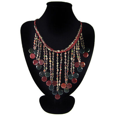 Fancy Agate Hand-crocheted Necklace CK702054