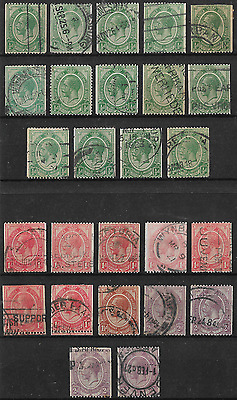 South Africa 1913 KGV Small Lot of Coil Stamps Used